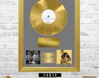 Justin Bieber  - Purpose Gold Frame Presentation Handmade Memorabilia
