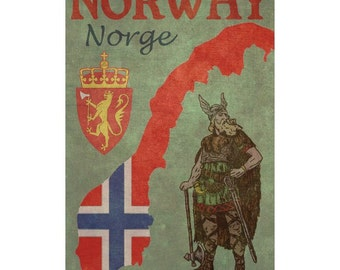 NORWAY 1FS- Handmade Leather Journal / Sketchbook - Travel Art