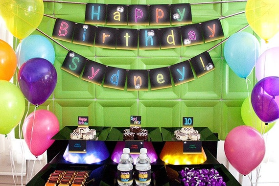 Glow in the Dark Collection Print at Home Neon Birthday