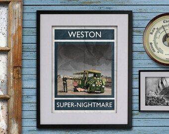 Weston-super-Nightmare - A3 Rubbish Seaside print (signed and dated)