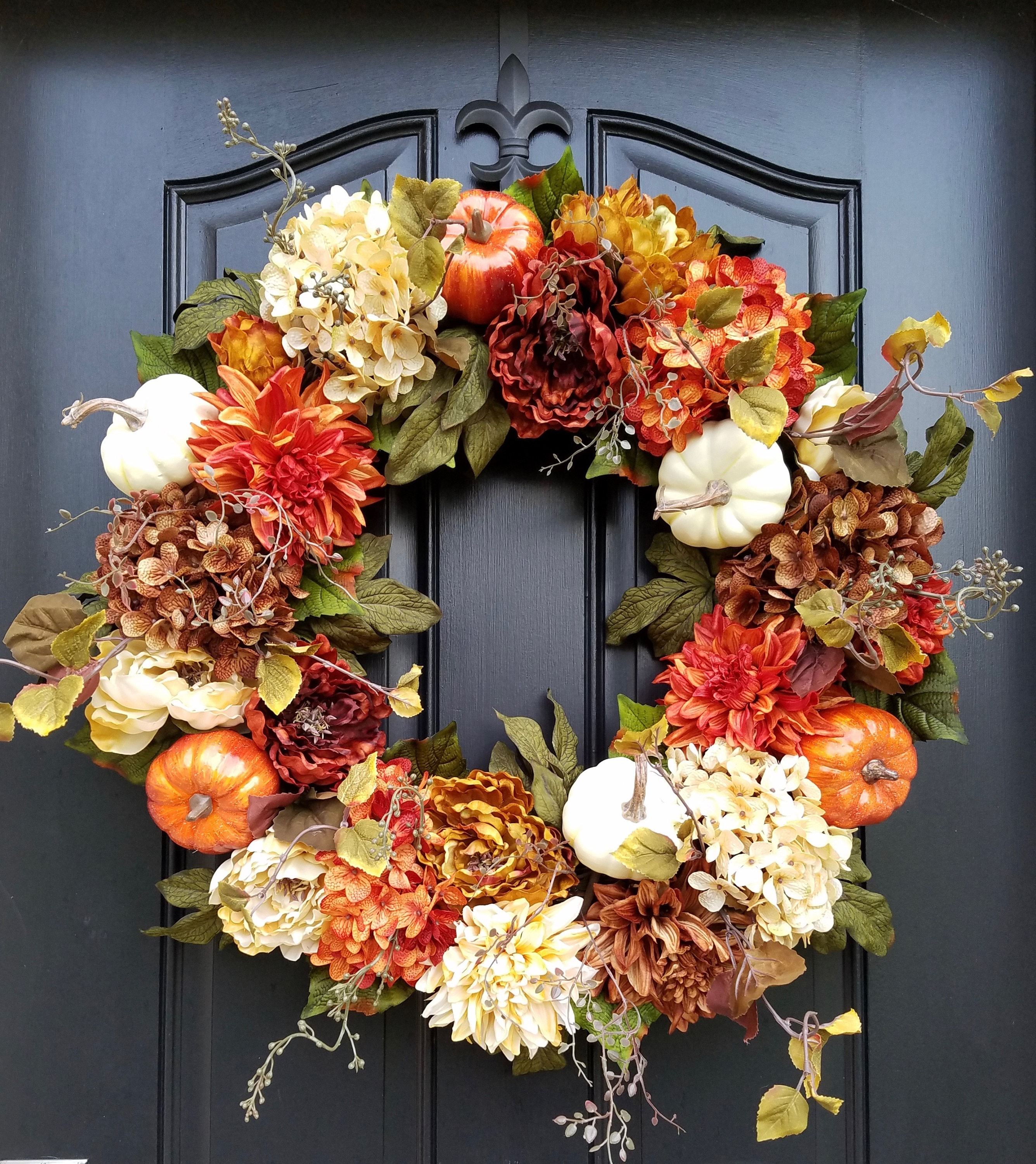 Thanksgiving Front Door: Fall WREATHS For Front Door Fall Wreathes Autumn Decor