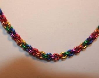 Rainbow colored choker