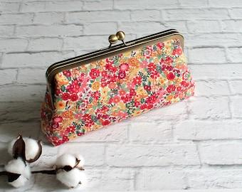 Kiss Lock Purse, Clutch, Metal Frame Purse, Vintage Style Clutch, Clasp Purse, Simple Purse, Handbag, Japanese Sevenberry, iPhone Wallet