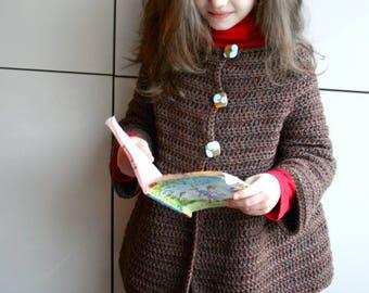 Sweater city cardigan crochet pattern, coat crochet pattern 270