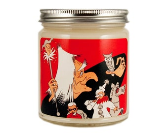 Halloween Candle, Scented Candle, Soy Candle, Vintage Halloween, Container Candle, Halloween Decor, Halloween Witch, Halloween Decoration
