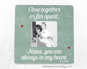 Long Distance Nana, Gift for Nana, Nana Gift, Personalized Picture Frame, Gift for Grandma Nana Mimi Gift, Long Distance Nana Gift
