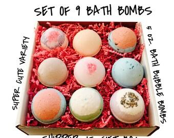 Bath Bomb SET OF 9  4.5 oz. Bombs / Assortments will vary