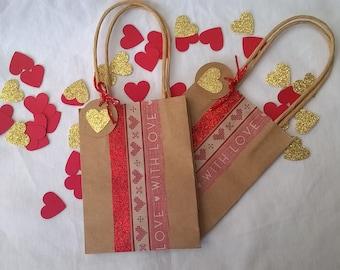 1 mini Saint Valentine 12 x 9.5 gift bag