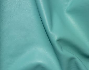"""Leather 12""""x12"""" KING Angel AQUA Full Grain Cowhide 3-3.5 oz / 1.2-1.4 mm PeggySueAlso™ E2881-24 full hides available"""