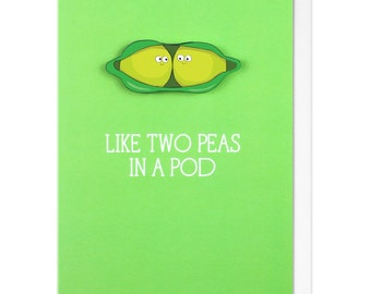 Like Two Peas in a Pod Personalised Greeting Card