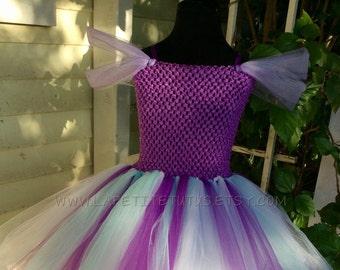 Mermaid theme double layer tutu dress, girls tutu, toddler tutu, flower girl dress, tulle tutu, flower girl dress tulle, girl clothing