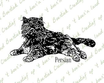 Persian, cat, cutting file, svg/studio/eps/jpg/pdf