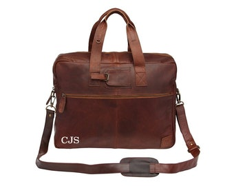 Leather Holdall - Weekend Bag - Overnight Bag in Vintage Brown by MAHI Leather