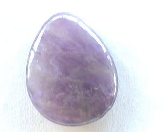 Amethyst natural cabochon drop 37X29m (11)
