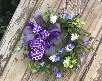 Purple  Wreath, Summer Wreath, Purple Door wreath, Door Wreath, Purple berry wreath,double door wreath,spring summer wreath, wreath for door