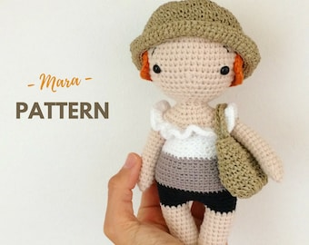 Mara | Amigurumi Doll Pattern, One Piece Crochet Doll, Crochet Doll Pattern, Amigurumi Pattern, PDF, Crochet pattern