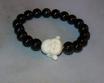 Buddha Black Onyx Yin Yang Bracelet