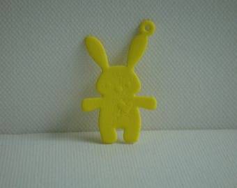 Cut out pendant Bunny yellow foam for creating jewelry, keychain...