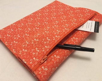 Composition Notebook Cover, Orange Floral