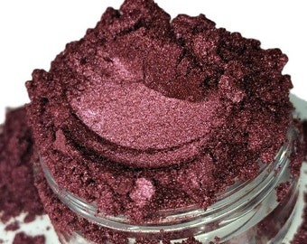 BODACIOUS METALLIC  Red Eye Shadow Shimmer Raspberry Natural Makeup Smokey Eyes vegan organic Luster Mineral Make up eyeliner 5g Sifter