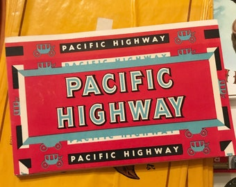 Vintage Cigar Box Label Pacific Highway Junk Journal Travel