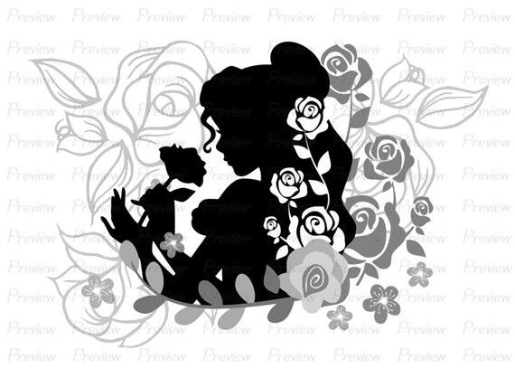 Line Art Flower Design : Digital stamp belle beauty and the beast flower disney princess