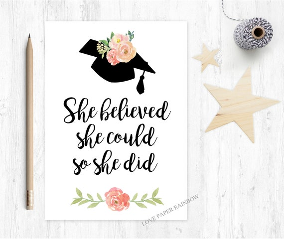 graduation card 2018 she believed she could so she did class of 2018 greeting card
