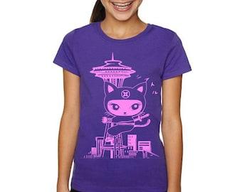 Kid Seattle Citty Ninja T shirts