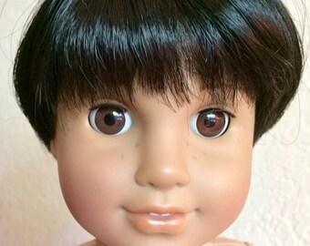 Monique Dutch Boy Black - Boy doll wig size 10-11