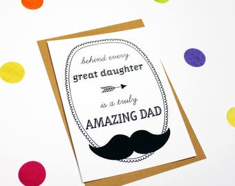 fathers day card, card father, card for dad, quote card, dad card, fathers day, dad quote, daughter father