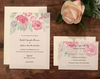 Hanging Garden, muted colors Invitations DEPOSIT