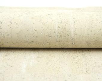 Cork fabric 26X19.inch/68X50cm  pastel white Portuguese natural Material white Cork Fabric Natural Cork Vegan fabric Kork corcho  COF-127