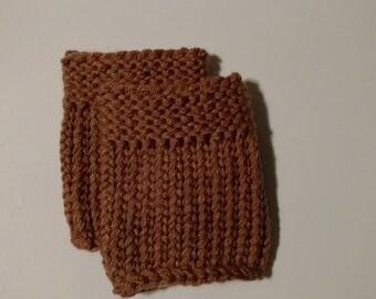 Tan Knit Boot Cuffs - Boot Cuffs