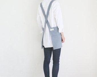 Linen Tool apron,Dark Bluish grey