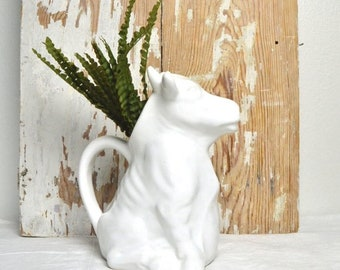 vintage cow milk pitcher, cow milk jug, cow collectibles