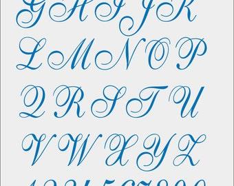Font Cursivo for Machine Embroidery -  pes - jef - xxx - dst - exp - hus - vip - vp3