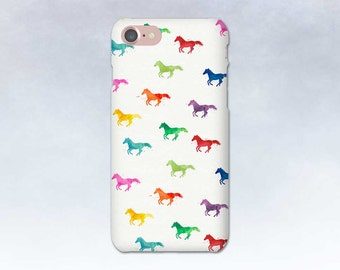 Rainbow Horse Art Phone Case, iPhone 6 6s 5 7 Plus, Samsung Galaxy S7 S6 S5, Edge, Note, LG G5 Moto G, Gift for Horse Lover, Equestrian