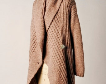 Knitting Pattern PDF - Shawl Collar Wrap Coat