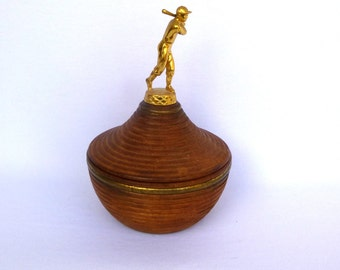 Vintage Baseball TROPHY BOWL/ Upcycled Trophy