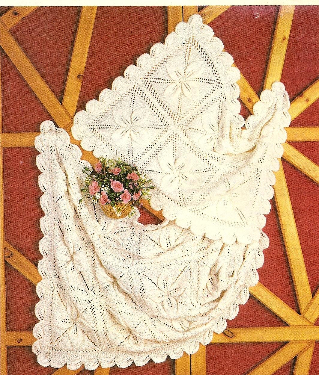 PDF Knitting Pattern Pram & Cot Cover Flower Pattern DK Instant ...