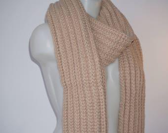 Knit scarf, long knit scarf, knit shawl, womens fashion accessory, chunky Knit scarf in blueberry, cozy softness, knit scarves