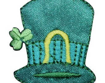Irish St. Patricks Day Hat Applique Patch (Small, Iron on)