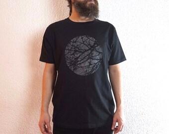 Graphic Tee - Tree t shirt - Minimalist  Black t shirt - Screen Print t shirt