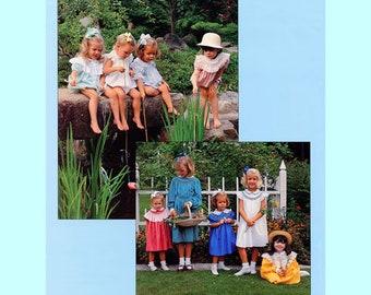 Smocked Dress Pattern / Smocked Bubble / Long, Short or Angel Sleeves / Bishop Pattern / Round Yoke Pattern / by Chery Williams. Vintage