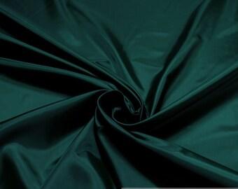 2 meters polyester taffeta dark green lining brillance soft EUR 3.40 / meter