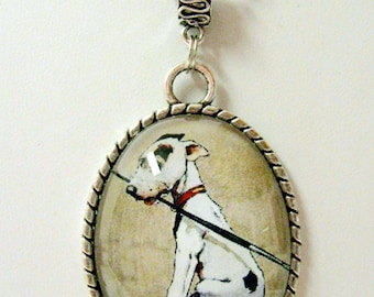 Puppy painter pendant with chain - DAP09-031