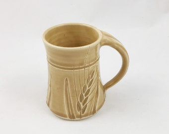 Pottery Mug Wheat Golden Ambrosia Handmade by Daisy Friesen
