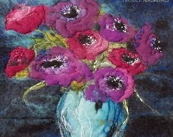 Moy Mackay Felt Painting Kit - Anemones