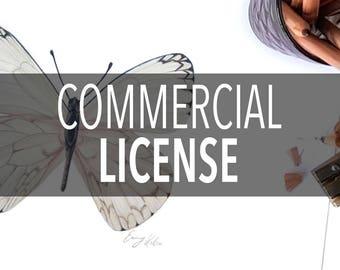 Commercial License, Digital File License, Digital Art License, Art License
