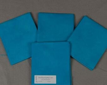 Aqua Blue Hand-Dyed Quilting Cotton Fat Quarter